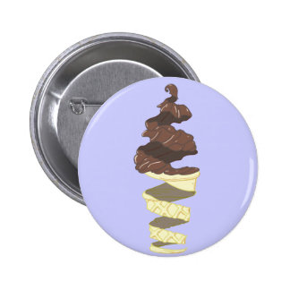 Chocolate Ice Cream With a Twist Button