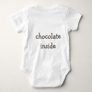 chocolate inside back side baby bodysuit