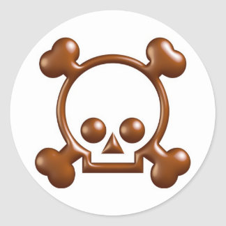 Chocolate Intervention Stickers..! Round Sticker