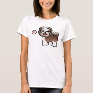 Chocolate Irish Pied Cartoon Havanese Love T-Shirt