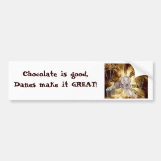 Chocolate Is Good Car Bumper Sticker