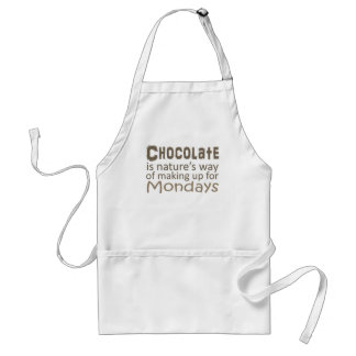 Chocolate is Natures Way of Making up for Mondays Standard Apron