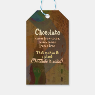 Chocolate is Salad! Gift Tags