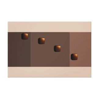 Chocolate Java Modern Minimalism Art Decor Print 2 Stretched Canvas Print