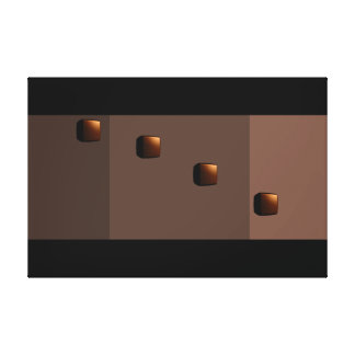 Chocolate Java Modern Minimalism Art Decor Print 3 Canvas Prints