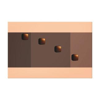 Chocolate Java Modern Minimalism Art Decor Print Stretched Canvas Print