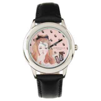 Chocolate Jennie leather strap watch