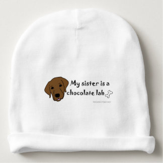 chocolate lab baby beanie