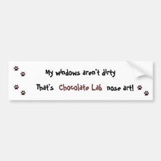 Chocolate Lab Bumper Sticker