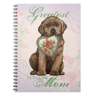 Chocolate Lab Heart Mom Notebook