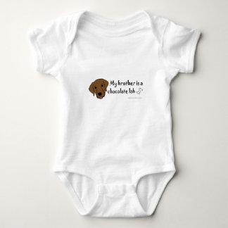 chocolate lab - more breeds baby bodysuit