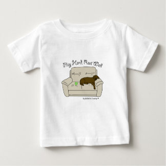 chocolate lab play hard rest well baby T-Shirt