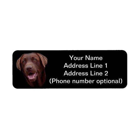 chocolate lab return address label
