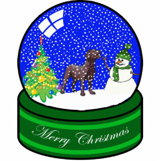 chocolate lab snow globe cut outs