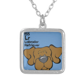 Chocolate Lab - The Dog Table Silver Plated Necklace