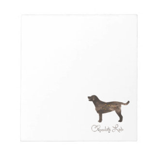 Chocolate Lab Watercolor Design Notepad