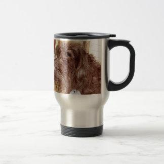 Chocolate Labradoodle Jackson Travel Mug
