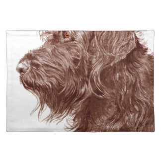 Chocolate Labradoodle Placemats