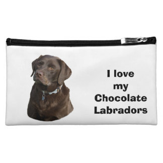 Chocolate Labrador dog photo Cosmetics Bags
