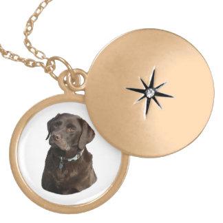 Chocolate Labrador photo portrait Lockets