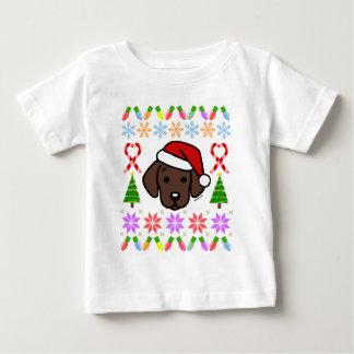 Chocolate Labrador Puppy Christmas Pattern Baby T-Shirt