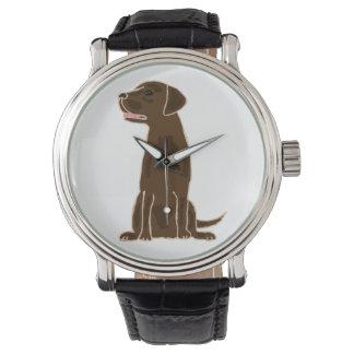 Chocolate Labrador Retriever Art Watch