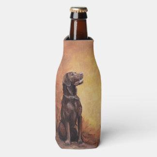 Chocolate Labrador Retriever Bottle Cooler