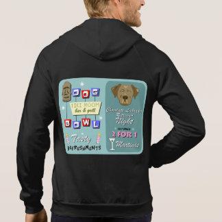 Chocolate Labrador Retriever Bowling Hoodie