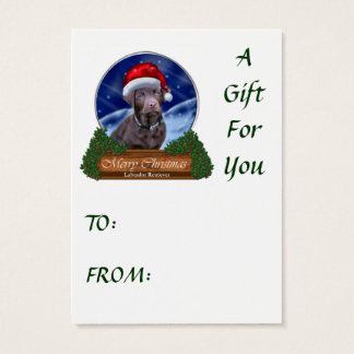 Chocolate Labrador Retriever Christmas Gifts Business Card
