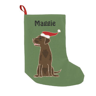 Chocolate Labrador Retriever Christmas Stocking