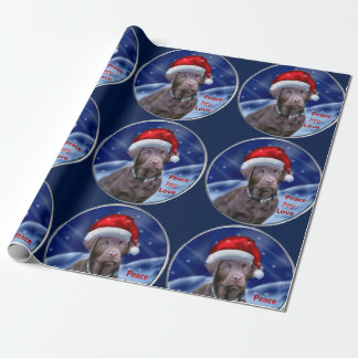 Chocolate Labrador Retriever Christmas Wrapping Paper