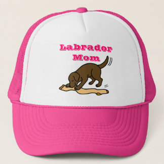 Chocolate Labrador Stocking Trucker Hat