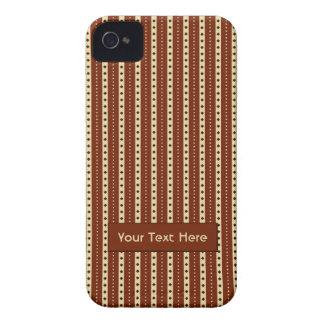 """Chocolate Latte"" Stripes iPhone case-mate"