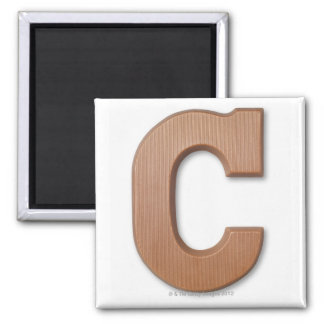 Chocolate letter c square magnet