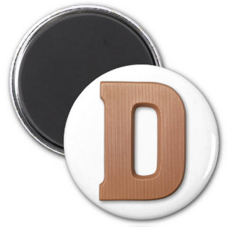 Chocolate letter D Magnet