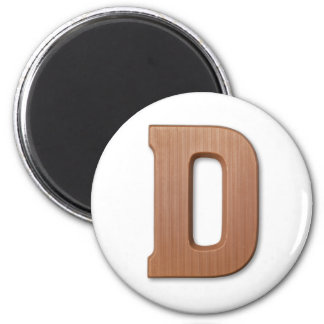 Chocolate letter D 6 Cm Round Magnet