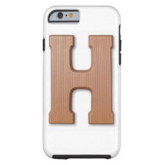 Chocolate letter h tough iPhone 6 case