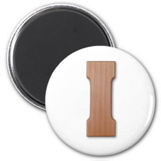 Chocolate letter I 6 Cm Round Magnet