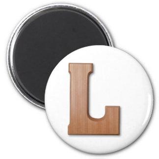 Chocolate letter L 6 Cm Round Magnet
