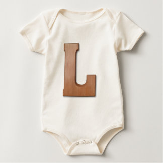 Chocolate letter L Baby Bodysuit