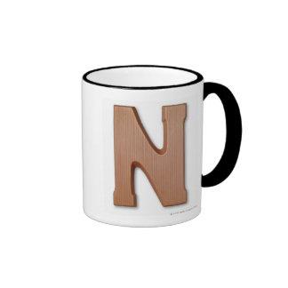 Chocolate letter n ringer coffee mug