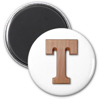 chocolate letter T 6 Cm Round Magnet