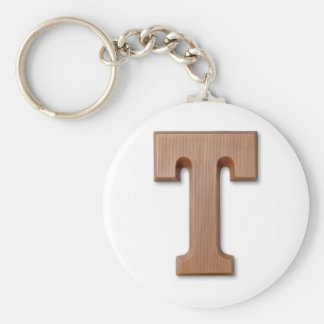 chocolate letter T Key Ring