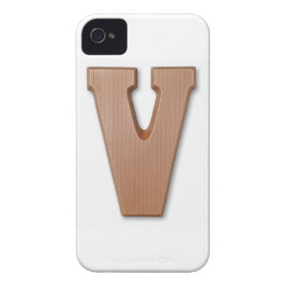 Chocolate letter v iPhone 4 Case-Mate cases