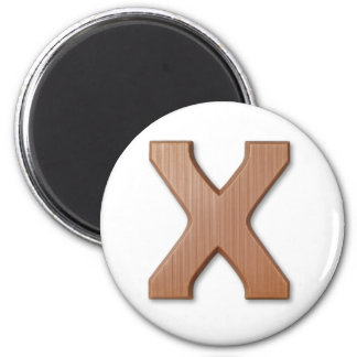 Chocolate letter X 6 Cm Round Magnet