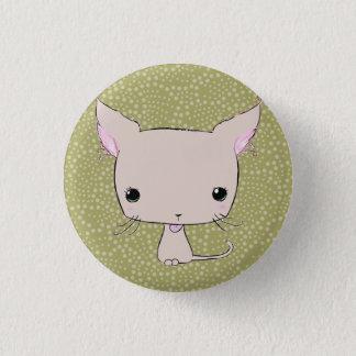 Chocolate lolkitty (limegreen polkadot print) 3 cm round badge