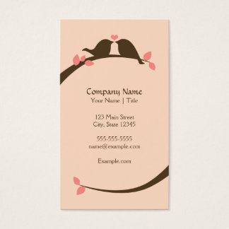 Chocolate Love Birds Business Card