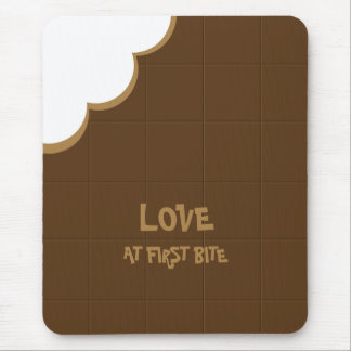 Chocolate Love Bite mousepad