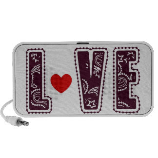 Chocolate Love Heart Doodle Speaker