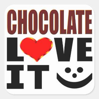 Chocolate Love It Square Sticker